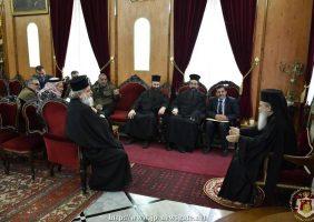 Мэр и члены Абедия на встрече с Его Блаженством