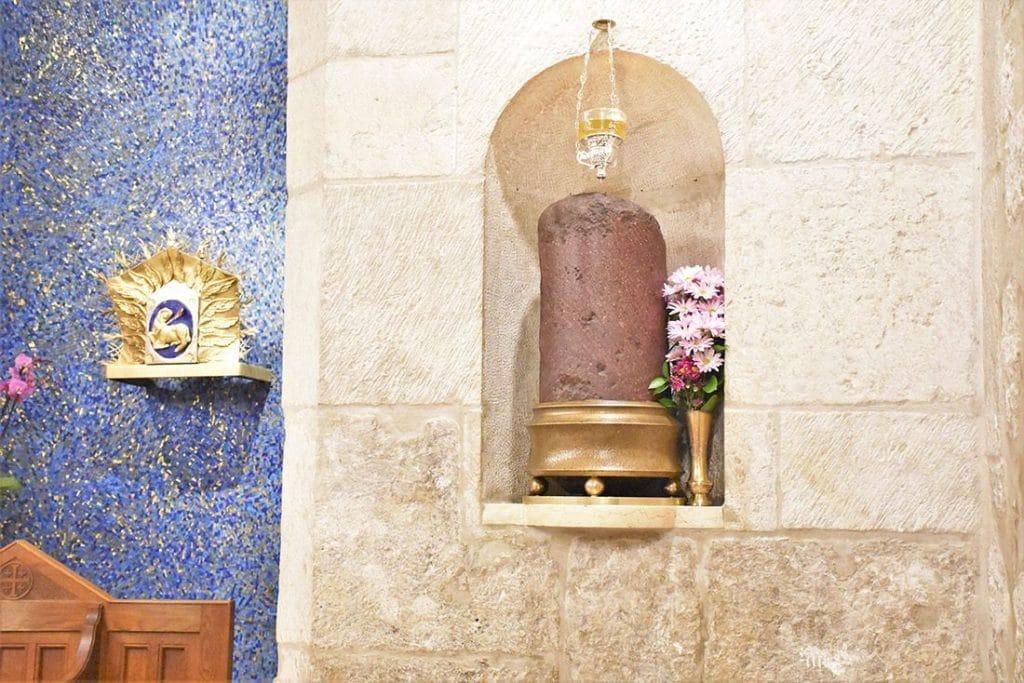 Придел латинян и колонна Бичевания
